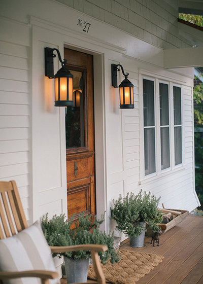 Transitional Porch by MainStreet Design Build