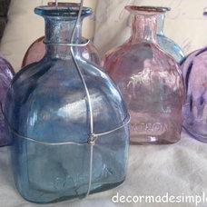 Eclectic Porch Oil Lamps