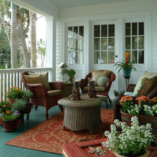 Eclectic Porch by Island Paint and Decorating