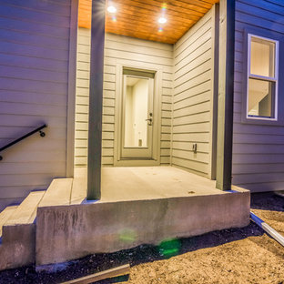 Foto di un patio o portico stile shabby