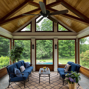 Open Gable Screened Porch