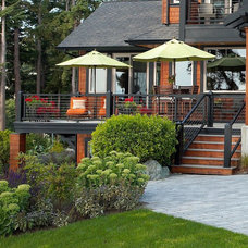 Rustic Porch by Dan Nelson, Designs Northwest Architects