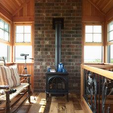 Rustic Porch by David Heide Design Studio
