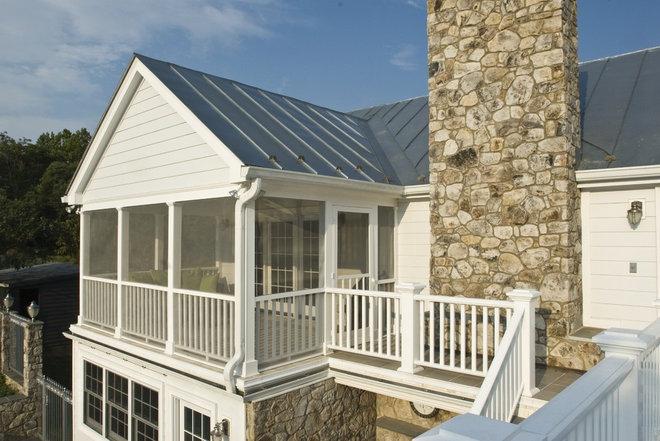 Farmhouse Porch by Welsh Construction, Inc.