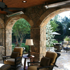 Mediterranean Porch by Legacy Landscapes, Inc.