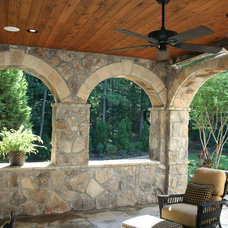 Mediterranean Porch by Legacy Landscapes, Inc.
