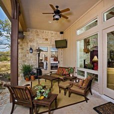 Traditional Porch by Authentic Custom Homes