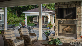 Outdoor Entertainment Patio, Spa, and Fire Pit