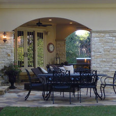 Mediterranean Porch by Cynthia Karegeannes, Registered Architect