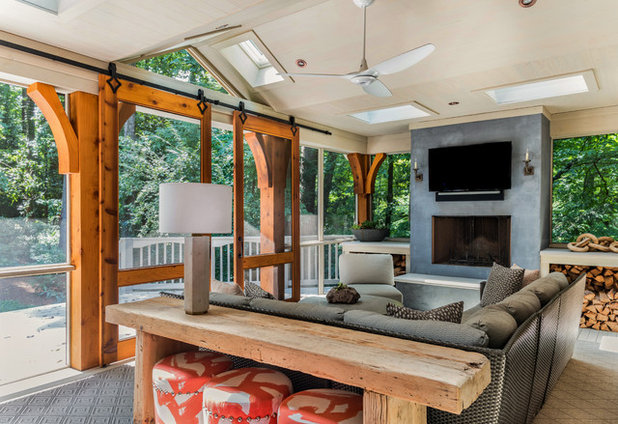 Transitional Porch by Costili Cabinetry LLC