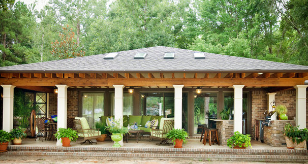 Traditional Porch by April Lipps