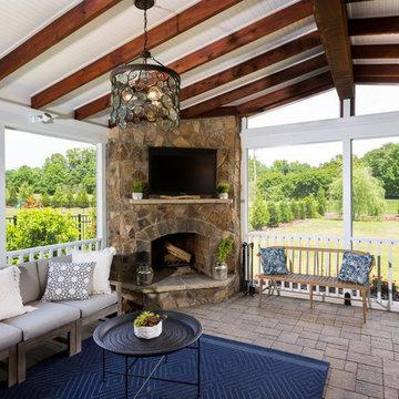 Combination of Indoor and Outdoor Patio Renovation