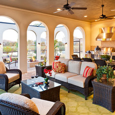 Mediterranean Porch by John Cannon Homes
