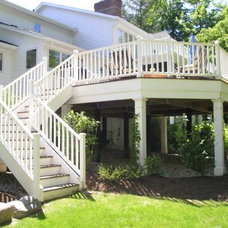 Traditional Porch by AVID Construction