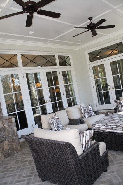 Traditional Porch by Carmen Honeycutt Interiors