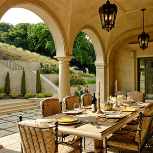 This is an example of a huge mediterranean porch design in San Francisco.