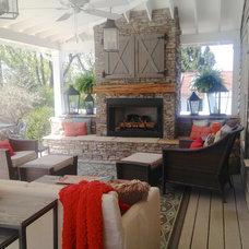 Traditional Porch by Rene Schleicher Design, LLC