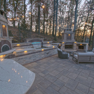 Outdoor Living Room with Pizza Oven