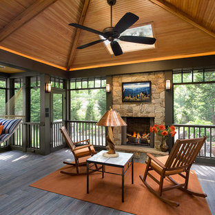 Inspiration for a craftsman porch remodel in DC Metro