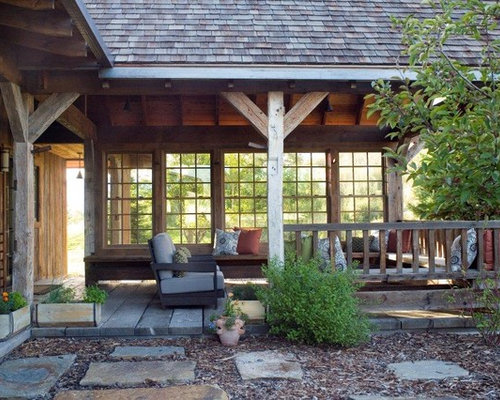 Rustic Wood Porch Posts Houzz