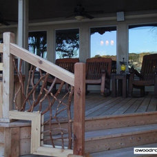 Contemporary Porch by Wood Railing