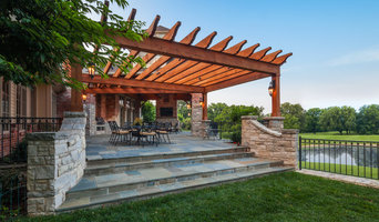 Outdoor Screened Pavilion with Pergola