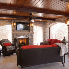 Transitional Porch by Kathleen Ramsey, Allied ASID