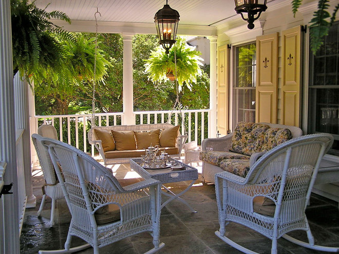 Traditional Porch by Janine Ducoin Arnold Interior Design, LLC
