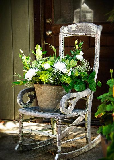 Shabby-chic Style Porch by Whitney Design Studios
