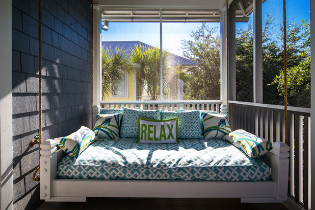 Beach Style Porch by Grand Floridian Builders, Inc.
