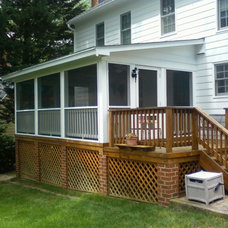 Traditional Porch by Add A Deck, Inc.