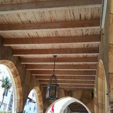 Mediterranean Porch pecky cypress ceiling Addison Mizner Palm Beach