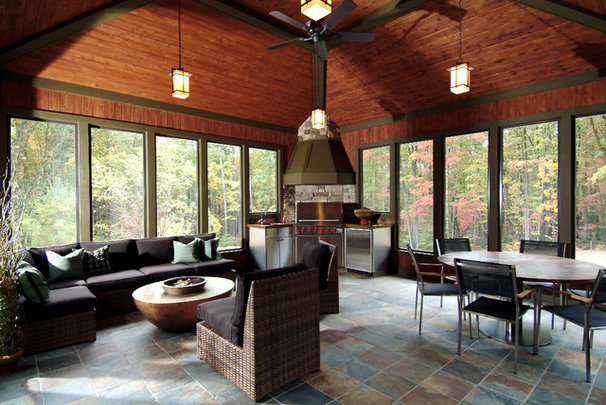 Traditional Porch by Visbeen Architects