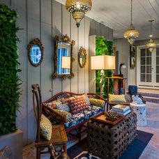 Traditional Porch by Sabrina Alfin Interiors, Inc.