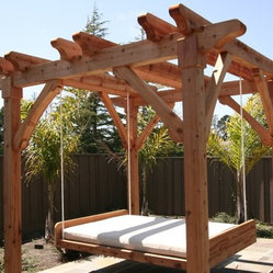 Pergola and Swing Bed -