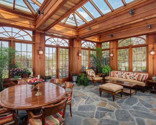 Flagstone floor ideas pictures remodel and decor for Solarium flooring