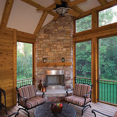 Eclectic Porch by House Plans and More