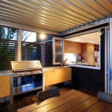 Contemporary Porch by Houseplans.com
