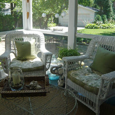 Traditional Porch by Designing Domesticity