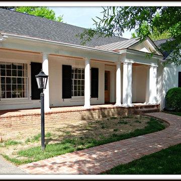 Porch, Garage and Facade Facelift for a Ranch-Style Home