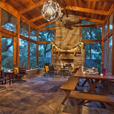Rustic Porch by kr kohlhaas design