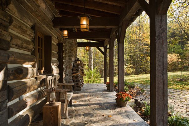 Traditional Porch by Locati Architects
