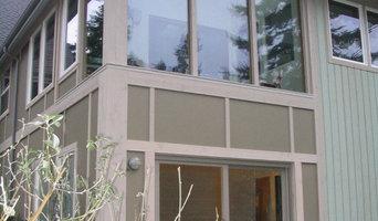 Porch Remodel into Writing Studio