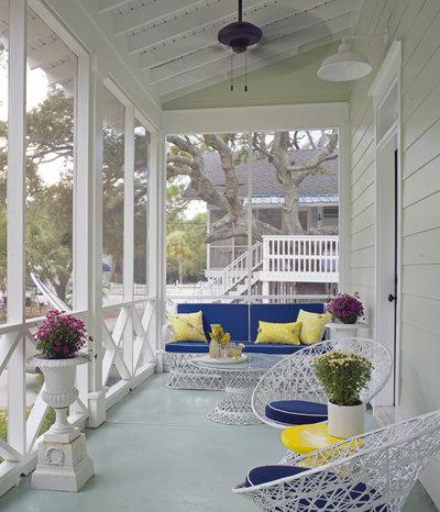 Beach Style Porch by Rethink Design Studio