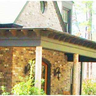 Arts and crafts porch idea in Other
