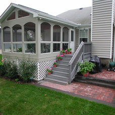Traditional Porch by Legend Construction