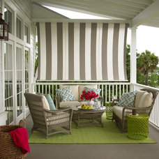 Transitional Porch by Our Town Plans
