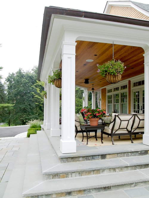 Porch columns home design ideas pictures remodel and decor for House plans with columns and porches