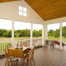 Farmhouse Porch by Pillar Homes