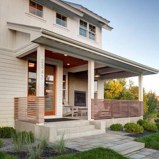 Idée de décoration pour un porche champêtre.